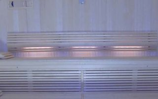 Evenley clients get bespoke home sauna with barrel rolled ceiling