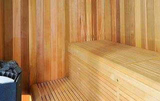 Luxury redwood cedar sauna installation for client in cumbria