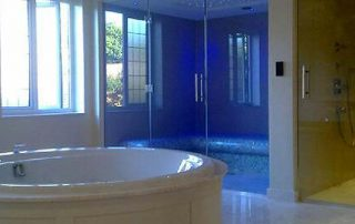 Luxury master bathroom suite commissioned for russian home owner