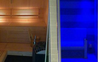 New home sauna & tiled steam room for client in brompton crescent, london