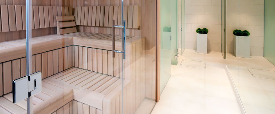 Sandbanks client has bespoke contemporary cedar sauna installed
