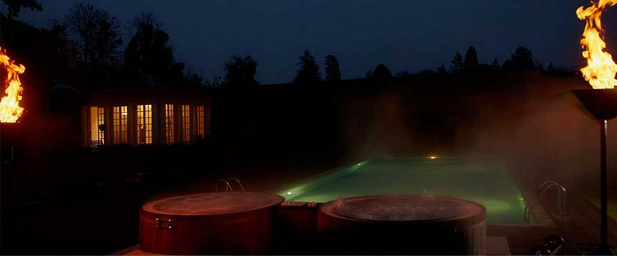 Twin Wooden Hot Tubs Installed for Client in Cliveden House in Taplow Nr Maidenhead