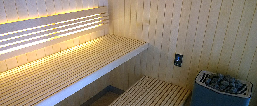 Glass Front Sauna Installed into Clients Home in Devon