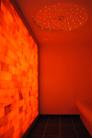 salt sauna therapy interior