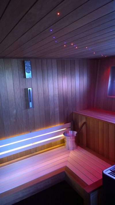Leisurequip installed a bespoke luxury sauna onto a Sunseeker super yacht