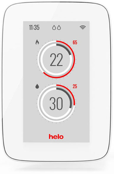 Helo Premium steam and sauna control panel