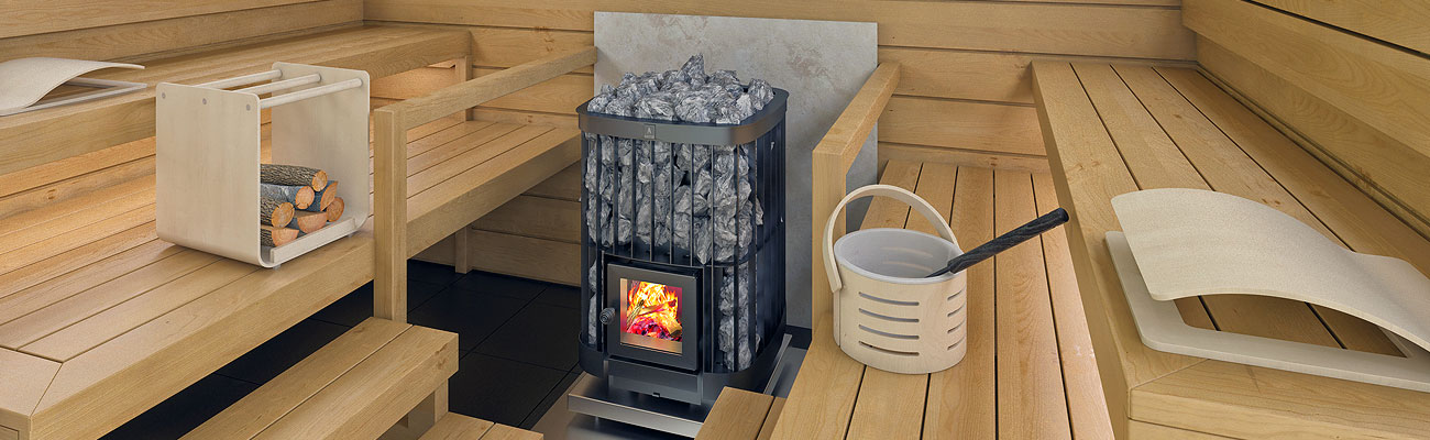Wood burning sauna heaters