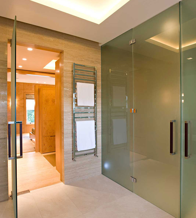 Bespoke Steam Room Glass, Custom Frameless Glass Fronts