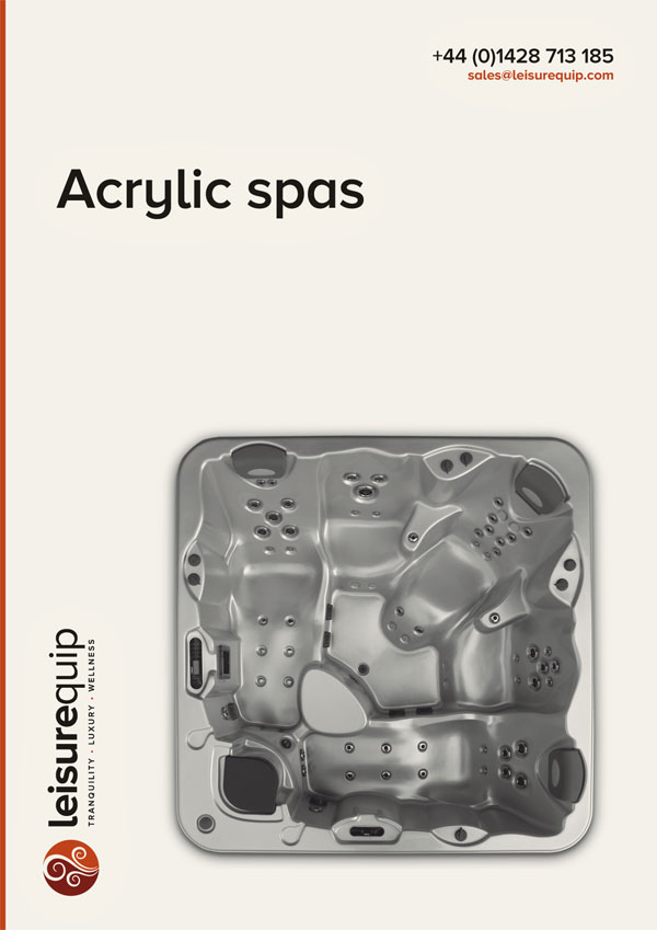 Leisurequip Iberspa luxury acrylic skimmer spas.