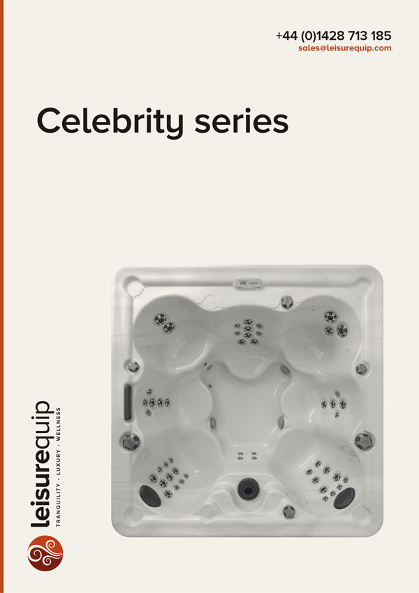 Marquis Spas Celebrity series acrylic hot tubs.