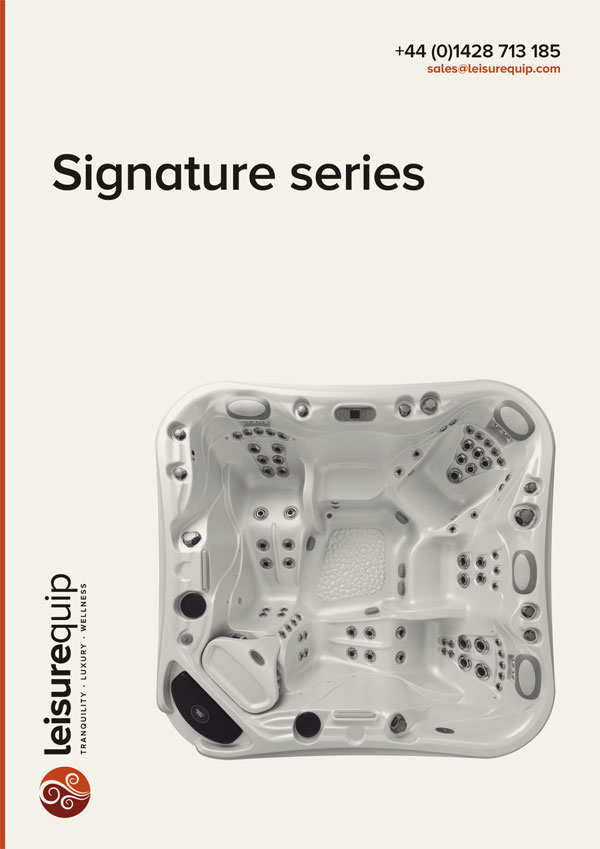 Marquis Signature series acrylic hot tubs.