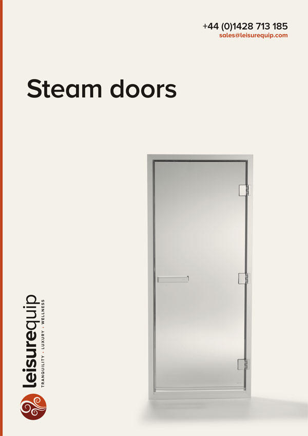 TylöHelo home & commercial steam room doors.