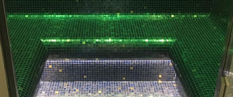 Bespoke Tiled Steam Room With LED Lighting Installed for Client in Ascot