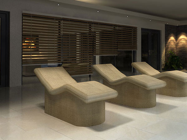 Heated spa loungers
