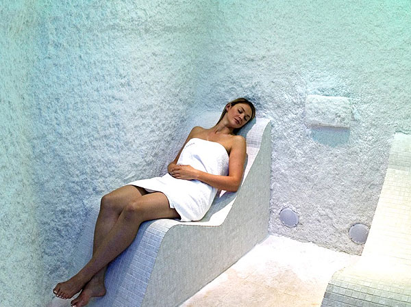 Uniquely designed salt cave spas