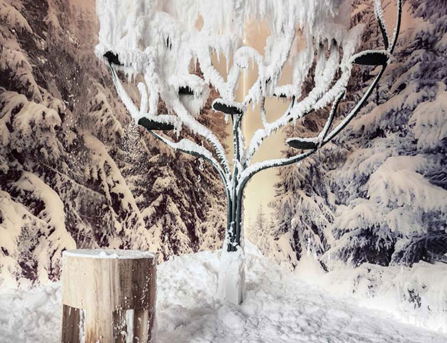 Bespoke snow forest